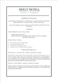 first resume exle for a high student sle high student resumes