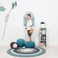 wall sticker height measurement farm by sebra blue kite with clouds for the nursery
