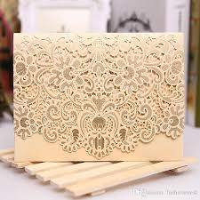 cheap wedding invitation sets rsvp card laser cut wedding invitations set 2016 new patter laser