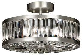 Crystal Flush Mount Ceiling Light Fixture by Fine Art Lamps Crystal Enchantment Semi Flush Mount 815740st