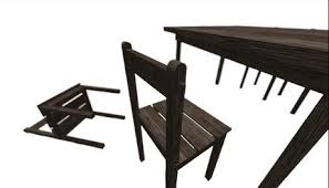 Old Wooden Table And Chairs Second Life Marketplace Full Perm Mesh Old Wooden Tables
