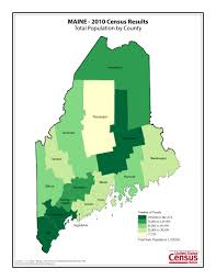 Maine County Map Census 2010 News U S Census Bureau Delivers Maine U0027s 2010 Census