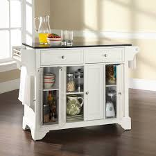 kitchen island cart crate and barrel with white marble top plus