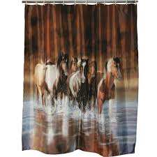 Animal Shower Curtain Rivers Edge Products V Shultz Horse Shower Curtain Walmart Com