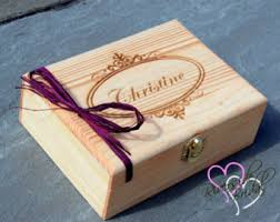 engravable box wooden keepsake box etsy