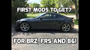 modded subaru brz first mods to get for brz frs and 86 youtube