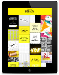 kate spade saturday launch campaign ipad app ui grid based user