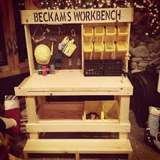 Boys Wooden Tool Bench Best 25 Kids Work Bench Ideas On Pinterest Workshop