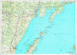 Topographic Map Of Michigan by Download Topographic Map In Area Of Escanaba Marinette Menominee