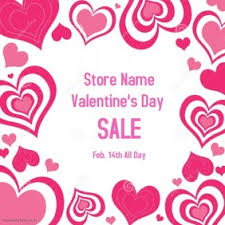 customizable design templates for valentines day sale postermywall