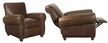 Distressed Vintage Leather Recliner Chair Club Furniture - Designer reclining chairs