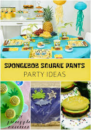 spongebob squarepants party ideas revel and glitter