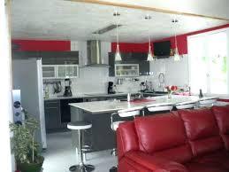 decoration cuisine deco salon et noir deco salon blanc noir attrayant idee