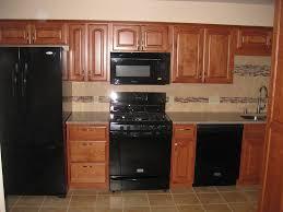 Kitchen Design With Black Appliances Amazin Kitchen With Modern Black Appliances And Granite Countertop