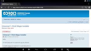 gapps 4 1 2 apk codewalker universal 1 click gapps installer for odroid