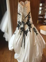 exclusive wedding dresses jacquelin exclusive ivory black satin 19945 modern wedding dress