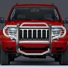 jeep liberty front bumper 07 jeep liberty kj front bumper protector brush grille guard chrome