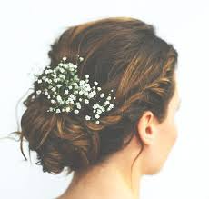 hair wedding updo babies breath is always pertect for wedding up do bridesmaids or