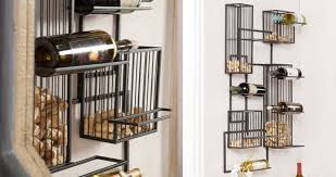 wall mounted wine racks in modern vintage style wine racks
