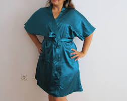 dark green robe etsy