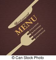 vectors illustration of retro restaurant simple menu design