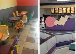 90s interior design seeing these photos of u002790s fast food restaurants will make you