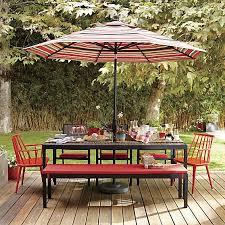 alfresco sunbrella dining bench cushion crates barrels and