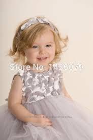 Flower Girls Dresses For Less - aliexpress com buy flower gray silver tutu flower