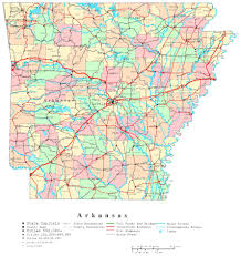 arkansa road map large administrative and road map of arkansas state with cities