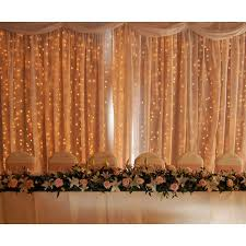 curtain lights 180 led christmas wedding curtain lights warm white 3m 2 5m