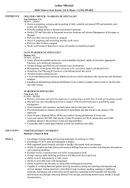 exle of a resume format warehouse specialist resume sles velvet
