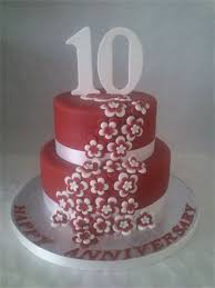 10th year wedding anniversary 10 year wedding anniversary cake ideas doulacindy