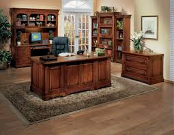 Home Office Double Desk by Furniture Fabulous Wooden Home Office Desk Design For Excecutive