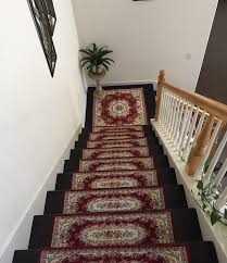 Staircase Runner Rugs Set Of Two 26x75cm Arcylic Rug Mat For Stair Runner Wood Step