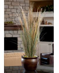 Artificial Flowers For Home Decoration Coastal Grass Silk Planter For Office And Home Decor At
