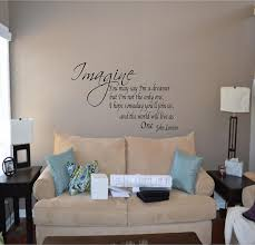 wall decals for dining room amazon com quote it imagine removable wall quote john lennon