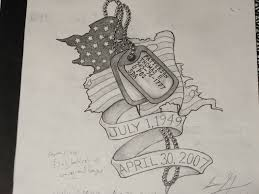 military dog tags memorial tattoo designs real photo pictures