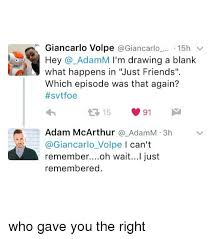 Draw This Again Meme Blank - giancarlo volpe 15h v hey adam i m drawing a blank what happens in