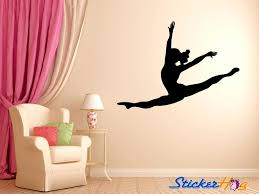 leaping dancer wall decal vinyl sticker dance studio bedroom wall