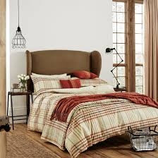 buy kipton check spice bed linen bedding home focus at hickeys