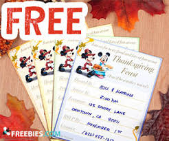 mickey minnie thanksgiving invitations