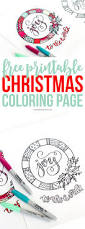 printable christmas coloring page coloring print and