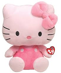 amazon ty beanie buddy kitty pink large toys
