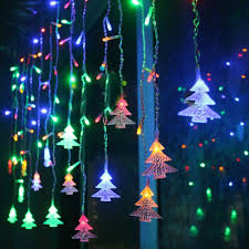 Curtain Fairy Lights by New 3 5m 96 Led Fairy Lights Curtain Icicle Starry String Lights