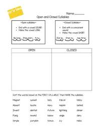 closed syllable worksheet free worksheets library download and