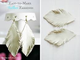how to make feather earrings with 53 clever feather craft ideas