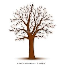 picture of a tree without leaves kids coloring pages black