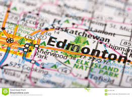 Map Of Edmonton Canada by Edmonton Canada On Map Stock Photo Image 87763146