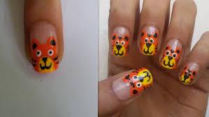 cartoon tiger nail art youtube