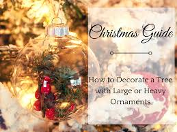 ideas on decorating with large christmas tree ornaments